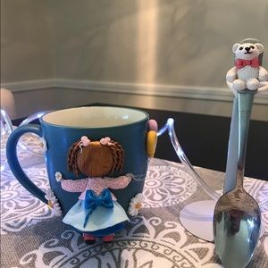 Other - cute handmade cups!  a good gift 💝 includes spoon